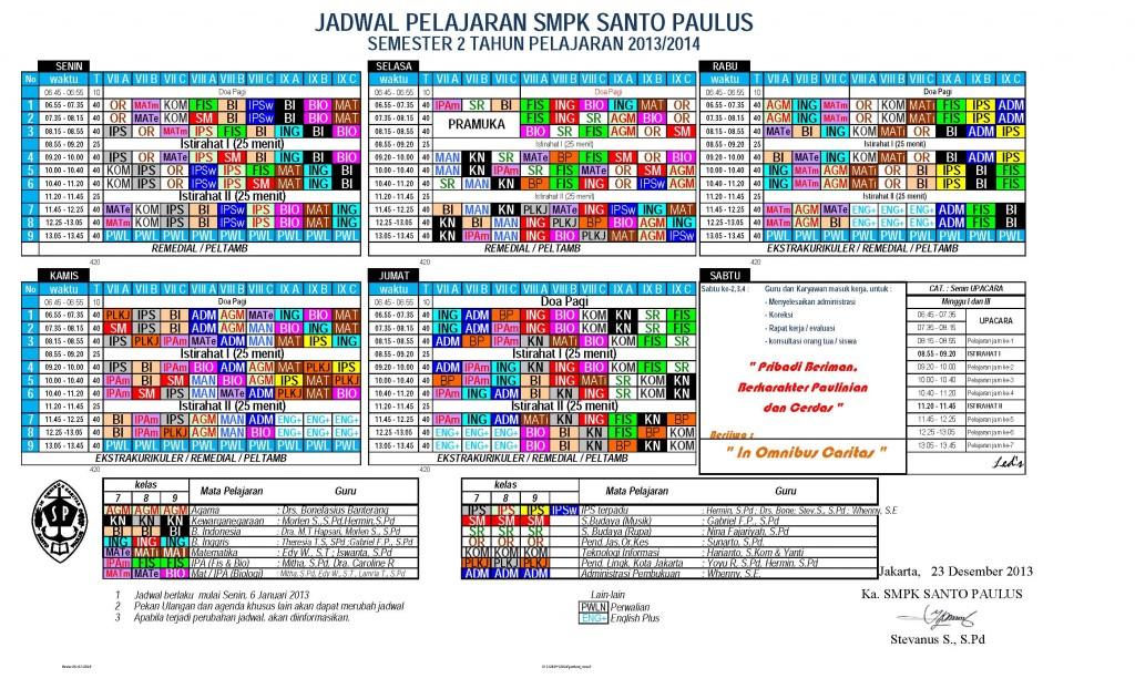 Jadwal_Semester 2 th 2013-2014
